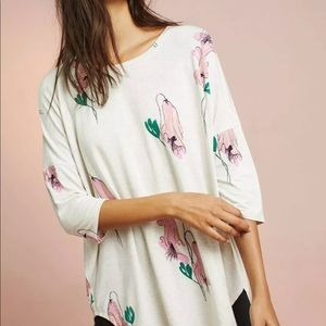 Anthropologie Floreat NWT oversized floral tunic
